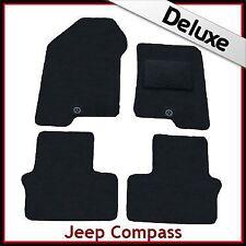 Jeep Compass 2006 onwards Tailored LUXURY 1300g Carpet Car Floor Mats BLACK