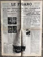 N111 La Une Du Journal Le Figaro 5 Septembre 1939