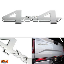 """4X4""Polished Metal 3D Decal Silver EmblemFor Mercedes/Subaru/Dodge/Eagle/Nissan"