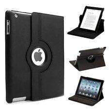Funda piel para iPad 2 iPad 3 iPad 4 Rotatoria 360º con cierre magnético Negro