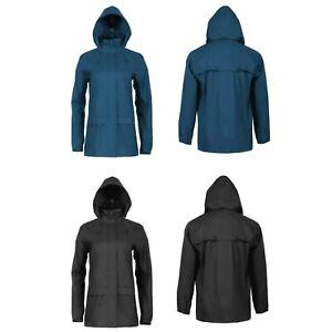 Ladies Waterproof Pack Away Jacket Pacamac Coat Wind Walking Hiking Camping NEW