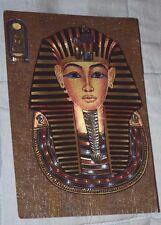 Golden Mask of Tutankhamun - Vintage Holographic Postcard