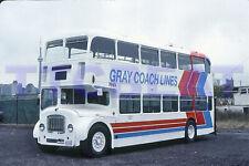 GRAY COACH BUS SLIDE: GCL 1965 DOUBLE DECKER IN TORONTO (1991 ORIGINAL)