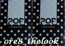 SHERIDAN POP HARU BLACK EUROPEAN PILLOWCASES   FULLY REVERSIBLE BRAND NEW