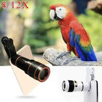 12x Optical Zoom Clip on Camera Lens Phone Telescope For Universal Cell Phone HQ