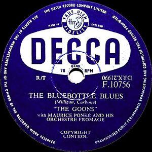 Goons Comedia 78 Mosca Azul Blues / I'M Walking Invertido Para Navidad F10756 E