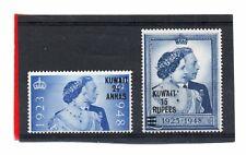 Kuwait GV1 1948 Royal Silver Wedding sg 74-75 VLH.Mint