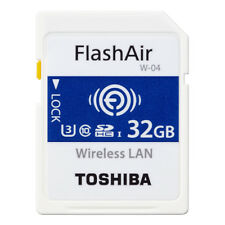 TOSHIBA 32GB FlashAir W-04 Wireless LAN WiFi SDHC Memory Card UHS-I U3 Class10