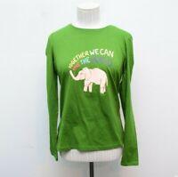 Ivory Ella XS Womens T Shirt Long Sleeve Tree Top Green New Slim Change Save