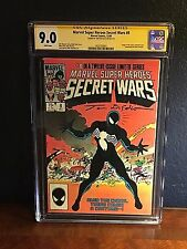 Marvel SECRET WARS #8 CGC SS 9.0 Signed White Page 1984 Venom 1st Symbiote VF NM
