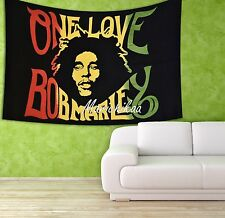 Bob Marley Tapestry Gypsy Beach Blanket Hippie Wall Hanging Dorm Decor Twin Size