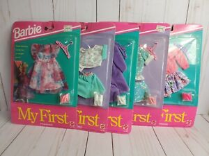 Lot of 5 Vintage 1992 Barbie My First Fashions New/Sealed Doll Outfits