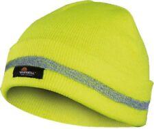 Warnschutz Wintermütze Mütze gelb mit Reflektorstreifen
