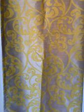 Kaylan Rod Pocket Panels Set of 2 JC Penney Yellow Jacquard Curtains
