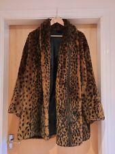 Faux Fur Leopard Print Winter Coat - Vintage / Retro - Womens XL/ Size 18