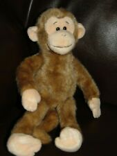 "Gund Pee Wee Monkey Brown Plush Stuffed Animal Toy 11"" #2627"
