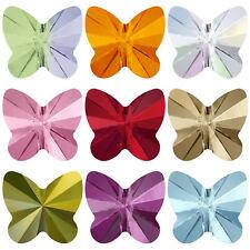 6 8 mm Mariposa De Cristal Swarovski Cuentas Todos Los Colores 5754