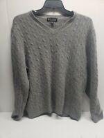 Daniel Bishop 100% Cashmere 2 Ply Black Crewneck Sweater Size 2XL