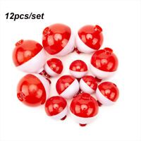 Plastic White red Fishing Float Balls Bubble Floats Tackle Bobbers Water Ball