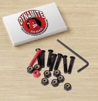 "Dynamite Forever Bolts 1"" Inch Red Heads Skateboard Hardware New"