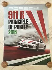 "Porsche Factory Poster-2016 911 R | ""Principle of Purity"" 