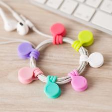 6X Magnetic Headphone Cord Winder Data Cable Earphone Wrap Organizer Ties Tool U