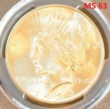 1935-S US Peace Silver Dollar PCGS MS 63