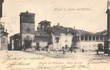 7204) CASTEL S. PIETRO DELL'EMILIA, PIAZZA 20 SETTEMBRE, CASA GUERRIERI. VG 1904