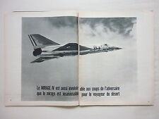 2/1965 PUB AVIONS MARCEL DASSAULT MIRAGE IV BOMBER FAS AN52 ORIGINAL FRENCH AD