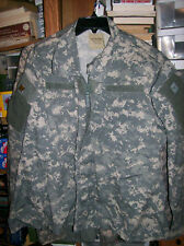 Lightly Used Military ACU Army Combat Uniform Digi Camou Shirt MEDIUM SHORT