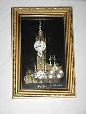 BIG BEN BY JOHN NASH FRAMED CLOCK ART DECO MADE WITH CLOCK & WATCH PARTS