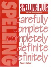 Spelling Plus : 1000 Words Toward Spelling Success by Susan C. Anthony NEW!