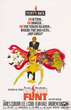 In like Flint James Coburn vintage movie poster print