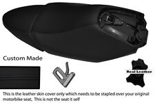 BLACK STITCH CUSTOM FITS YAMAHA XQ 125 MAXSTER  REAL LEATHER SEATS COVERS