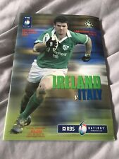 2004 IRELAND V ITALY ITALIA SIX NATIONS INTERNATIONAL RUGBY PROGRAMME EXC