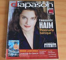 Revue Diapason N°572 - Emmanuelle Haïm - Landowska - Chostakovitch