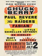 "Chuck Berry / Paul Revere Sacramento 16"" x 12"" Photo Repro Concert Poster"