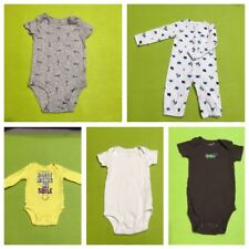 Lot Of 5 Pre Owned Carters Unisex Infant/baby Dresses Ages New Born To 3 Months