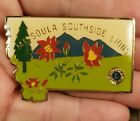 Missoula Southside Lions Club Large Vintage Lapel Pin State Shaped Badge