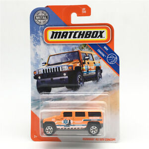 MATCHBOX 1: 64 City Hero Cars Hummer H2 Concept SUV Ginger Yellow Alloy model