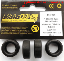 M078 Mitoos Classic Micro Peaks Tyres x 4 - 22 x 7mm - New