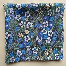 Blue flowers Liberty of London silk pocket square