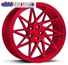 "NEW 19"" VEEMANN V-FS35 ALLOYS IN CANDY RED 5X112 AUDI A4 A6 A8 MERCEDES VAG VW"