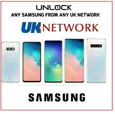 Network Unlock code Samsung Galaxy Z Fold3 5G A8 Note10 S10 O2 EE Vodafone BT UK