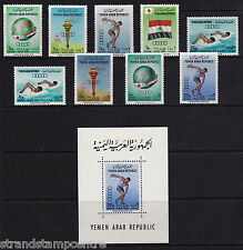 Yemen - 1964 Olympics (2nd Issue) - U/M - SG 272-80 + MS280a