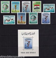 Yemen - 1964 Olympics (2nd Issue) - U/M - SG 272-80 + MS280a