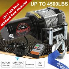 4000lb 12V ELECTRIC WINCH WITH WIRELESS REMOTE TRAILER 4x4 TRUCK BOAT ATV SUV SY