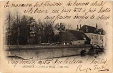 CPA Courville- Le Pont du Moulin. (669822)
