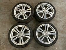 "AUDI A3 S3 18"" S LINE ALLOY WHEELS ALLOYS 8V 7.5"" RIMS 8V0601025BL 8V0601025AJ"