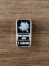 1 Gram Silver Bar - Canadian Maple Leaf  .999 Fine